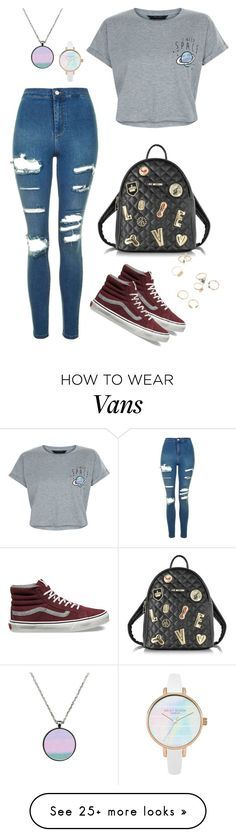 """""""Space"""" by mshlychenko on Polyvore featuring Topshop, New Look, Vans and Love Moschino"""