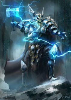 ArtStation - Thor commission, Conor Burke