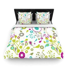 Kess InHouse Rebecca Bender Longing to Be Free Fantasy Painting Featherweight Queen Duvet Cover 88 x 88,