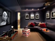 Home Decoration Products Stay Entertained: 20 Lovely Small Home Theaters and Media Rooms.Home Decoration Products Stay Entertained: 20 Lovely Small Home Theaters and Media Rooms Home Theater Room Design, Home Theater Decor, At Home Movie Theater, Home Theater Rooms, Home Theatre, Media Room Design, Small Living Room Design, Living Room Designs, Media Room Decor