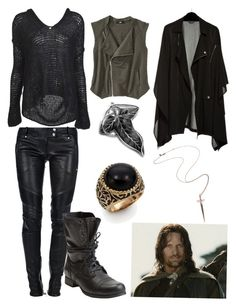 """aragorn"" by nichole42293 ❤ liked on Polyvore featuring Balmain, Mossimo, Nili Lotan, Steve Madden, Front Row Shop, L.A.M.B. and Rachel Roy"