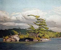 Casson, Canadian Moose Lake, oil on board, x cm, private collection Group Of Seven Artists, Group Of Seven Paintings, Emily Carr, Tom Thomson, Canadian Painters, Canadian Artists, Landscape Art, Landscape Paintings, House Paintings