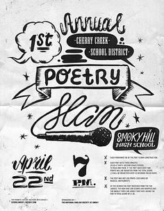 All My Pistachios: Poetry Slam Flyer