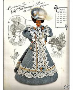 The Gibson Girl Collection of the Gay Nineties August Fashion Doll  Crochet Pattern  Annies Attic. $6.00, via Etsy.