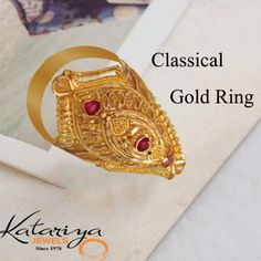 Classic Gold Ring with 22K Buy Now : http://buff.ly/1T4Qitm COD Option Available with Free Shipping In India