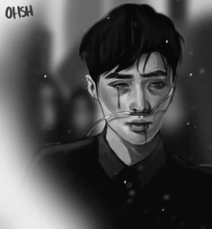 Exo Lay Drained by ohsh on DeviantArt Jimin Fanart, Kpop Fanart, Kris Wu, Taemin, Slimming World, Hugs, Chanyeol Baekhyun, Park Chanyeol, Exo Fan Art