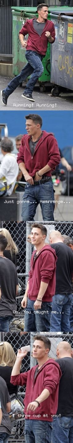 Colton Haynes-his faces in the last two panels are so worth it