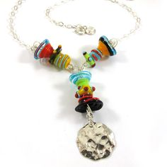 Glass Necklace  Lampwork Necklace  Sea Wind by SariGlassman, $67.00