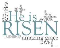 "FREE Printable ""He is Risen"" from StudioJRU and (in)courage"