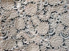 3 yards of antique lace on Etsy. This would be great for anyone wanting a handmade, custom gown :)