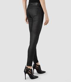 Womens Mast/Black Coated (Black) | ALLSAINTS.com