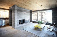 Un coin cheminée design Ruinelli Associati Architetti