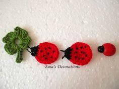 Crochet Ladybugs - free pattern