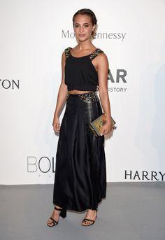 Cannes Film Festival 2015   Alicia Vikander en robe Louis Vuitton de la collection croisière 2016