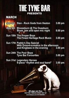 The Tyne Bar Free Gigs March 2013