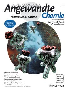 """J. de Mendoza and co-workers describe in their Communication on page 198 ff. how a host molecule (a small calix[4]arene or cavitand) can itself become the """"prey"""" for a larger host (a metallocavitand made from a calix[4]arene with [3,8]phenanthroline subunits linked through Re atoms). The cover picture shows the complexation of a cavitand (by P. Ballester) superimposed on an underwater picture at Cap Andritxol, Mallorca (by E. Botana). http://doi.org/btzkd9"""