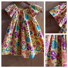 Twill Peasant Dress,  size 2t by SewMeems on Etsy