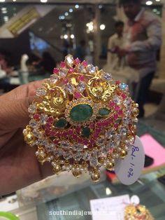 25 Grams Gold Ruby Emerald Pendant