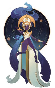 New Celestial Hero: Morael - Queen of Stars : afkarena All Hero, Stargazing, The Outsiders, Witch, Queen, Celestial, This Or That Questions, Stars, Anime