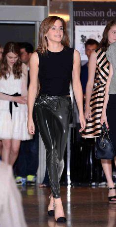 Emma Watsonin PVC at Paris Student Fashion Show - Emma Watson Style