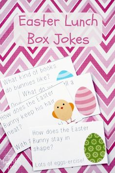 Free Printable:: Easter Lunch Box Jokes - The Mother Huddle