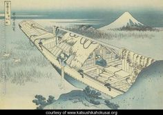 Ushibori in Hitachi Province (Joshu Ushibori) - Hokusai
