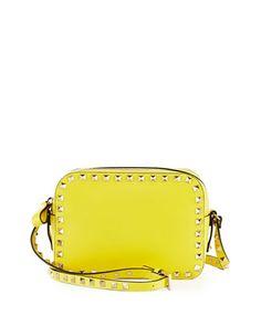 Rockstud Camera Crossbody Bag, Yellow by Valentino at Neiman Marcus.