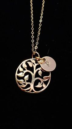 0140e8001b Tickle Bug Jewelry <3 · Tree of Life Pendant with up to 3 initial discs  included. Includes 20