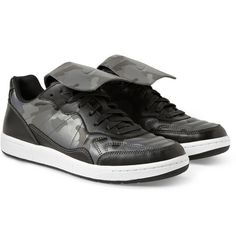 NSW TIEMPO '94 SP PRINTED LEATHER SNEAKERS
