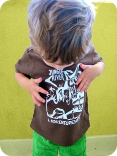 how to import your own images and cut in silhouette homemade by jill: disneyland shirts for boys