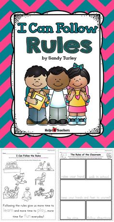 I Can Follow Rules/Printable & TPT Digital Activities