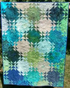 Shimmering Triangles or Glimmerglass Quilt