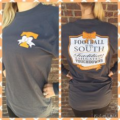 Football in the South Tennessee style! Only $25 Sizes Small-2XL  Clover Cottage Located in Powell off Emory Rd @  1905 Depot Dr Powell TN 37849 865 357 8953  Store Hours: Monday-Friday: 11am-6pm Saturday: 11am-3pm Closed: Wednesdays & Sundays
