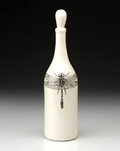 /\ /\ . Laura Zindel Bottle: Dragonfly