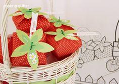 Strawberry Paper party boxes, Editable Printable PDF! ~ Etsy