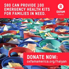 Any amount, no matter how small, can help us deliver life-saving humanitarian aid. Please donate at http://www.oxfam.org/haiyan