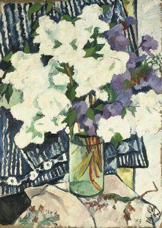'Lilacs in a vase', 1905 - Natalia Sergeevna Goncharova (1881–1962)