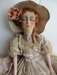 EXTREMELY RARE AO SMILER FRENCH BED BOUDOIR DOLL