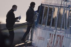 Ferries were taking hundreds of people from the Greek islands to the Turkish coast.