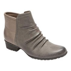 9d7444b4c360 Women s Rockport Cobb Hill Gratasha Panel Ankle Boot - Dark Grey Nubuck  Boots