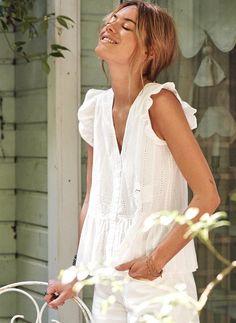 Le parfait total look blanc #38 (photo Sézane)