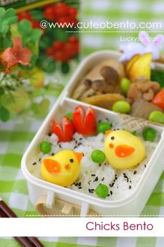 #kawaii #chicks  #bento