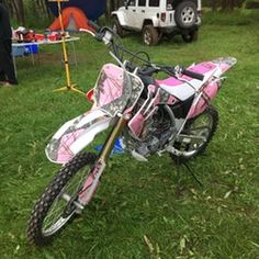 """Nothing says """"country girl"""" more than this pink camo bike! Such a cool way to use our camo rolls. Pink Mossy Oak, Mossy Oak Camo, Camo Living Rooms, Backpack Bags, Laptop Backpack, Tote Bags, Pink Leather, Leather Bags, Under Armour Sweatshirts"""