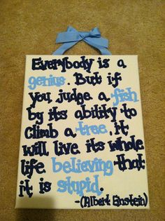 Items similar to Albert Einstein Canvas Quote (made to order) on Etsy Great Quotes, Quotes To Live By, Life Quotes, Inspirational Quotes, Cool Words, Wise Words, Diy Canvas, Canvas Ideas, Albert Einstein Quotes