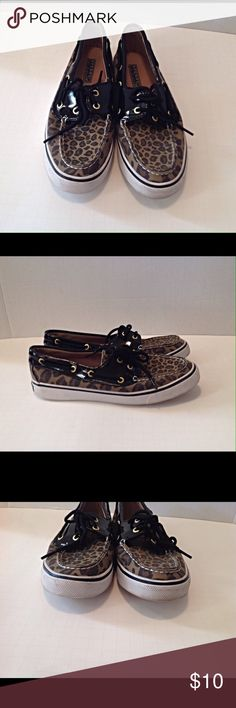 Sperry leopard loafers Size 7M. In Good condition. Some wear spots around front rubber (see pic 3) and the bottom of shoes(pic 6). Sperry Top-Sider Shoes Flats & Loafers