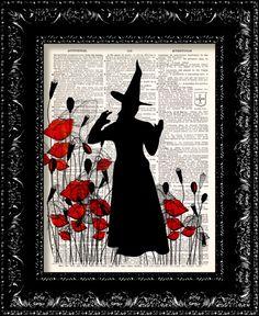BOGO++Wizard+Of+Oz+The+Wicked+Witch+Poppy+by+TheRekindledPage,+$8.98