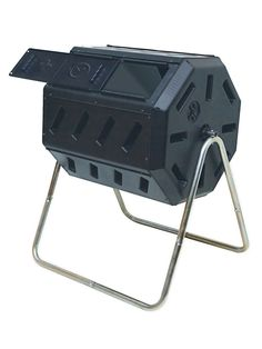 Tumbling Composter -- this gets the best reviews as a kitchen composter, and it functions as a dual-sided composter although it isn't listed as such. Avail. at Gardeners Supply