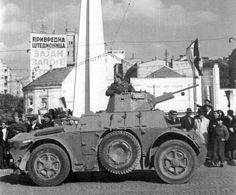 Autoblinda 43 FIAT-Ansaldo AB-43 бронеавтомобиль итальянского производства,захваченны у немцев югославскими партизанами при освобождении Белграда / Autoblinda 43 FIAT-Ansaldo AB-43 Italian- made armored car , captured from the Germans by the Yugoslav partisans during the liberation of Belgrade