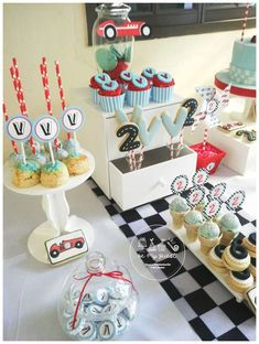 Vintage Race Car Birthday Party Ideas   Photo 1 of 18   Catch My Party