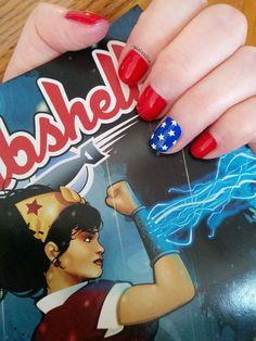 Wonder Woman #DCcomics #nailart #comics #geeknails #nerdnails